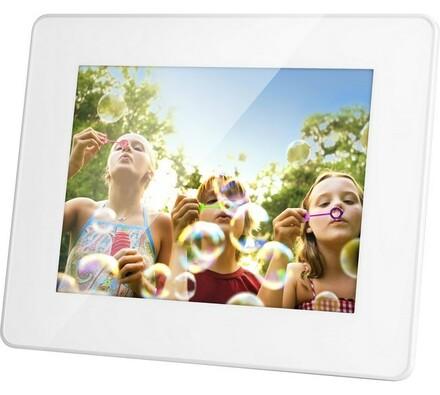 Digitální fotorámeček SDF 750 W, Sencor, bílá, 17, 5 cm