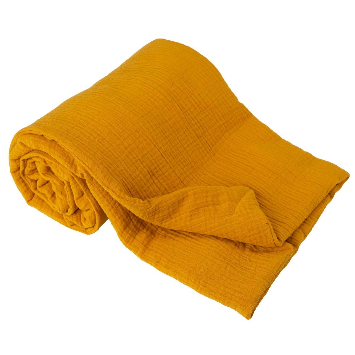 Dětská deka žlutá, 75 x 100 cm