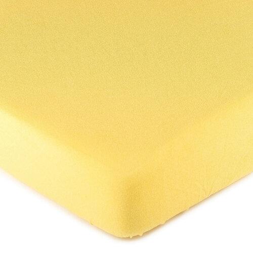 4Home jersey prostěradlo žlutá, 180 x 200 cm