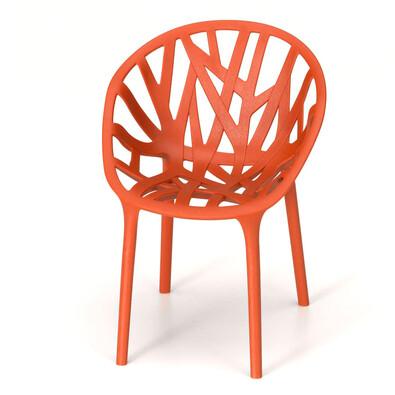 Miniatura židle Vegetal Chair 13,5 cm, cihlová, sada 3 ks