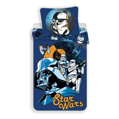 Jerry Fabrics Pościel bawełniana Star Wars Blue, 140 x 200 cm, 70 x 90 cm