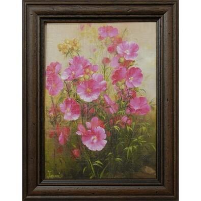 Reprodukce Růžové květiny, 13x18 cm