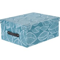 Koopman Dekorační úložný box s víkem, modrá