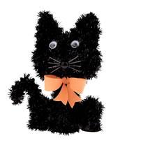 Halloweenská kočka Blackie, 15 x 11 cm