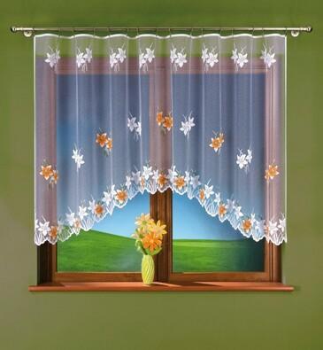Hotová záclona Klára, 250 x 120 cm, bílá, 250 x 120 cm