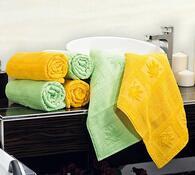 Ručník Nina žlutá, 50 x 90 cm, sada 2 ks