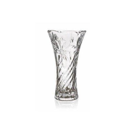 Banquet Skleněná váza Poury čirá, 23 cm
