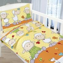Dětské bavlněné povlečení Agáta - Ovečky, 90 x 135 cm, 45 x 60 cm