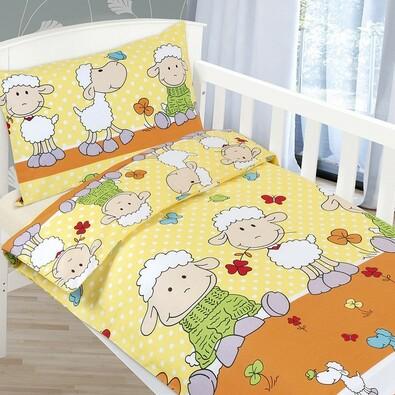 Detské bavlnené obliečky Agáta - Ovečky, 90 x 135 cm, 45 x 60 cm