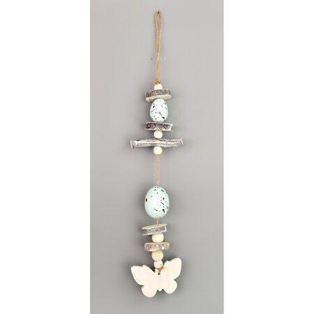 Veľkonočná závesná dekorácia Vajíčka modrá, 30 cm