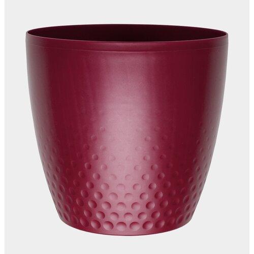 Plastový květináč Perla 25 cm, vínová, Plastia, pr. 25 cm