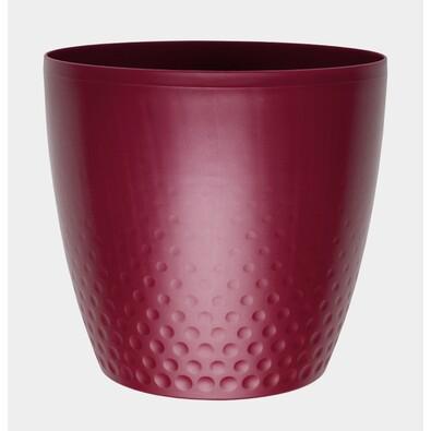 Plastový obal na květináč Perla 25 cm, vínová