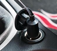 Ventilátor do auta, 12V, bílá + černá, pr. 14 x 19 cm