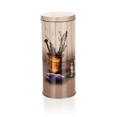 Cutie metalică rotundă Banquet Lavender