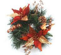 Luxusní vánoční věnec s vánoční hvězdou, 27 cm