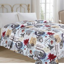 Narzuta na łóżko Zegary, 140 x 220 cm