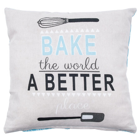 Bake the world a better place kispárnahuzat, 40 x 40 cm