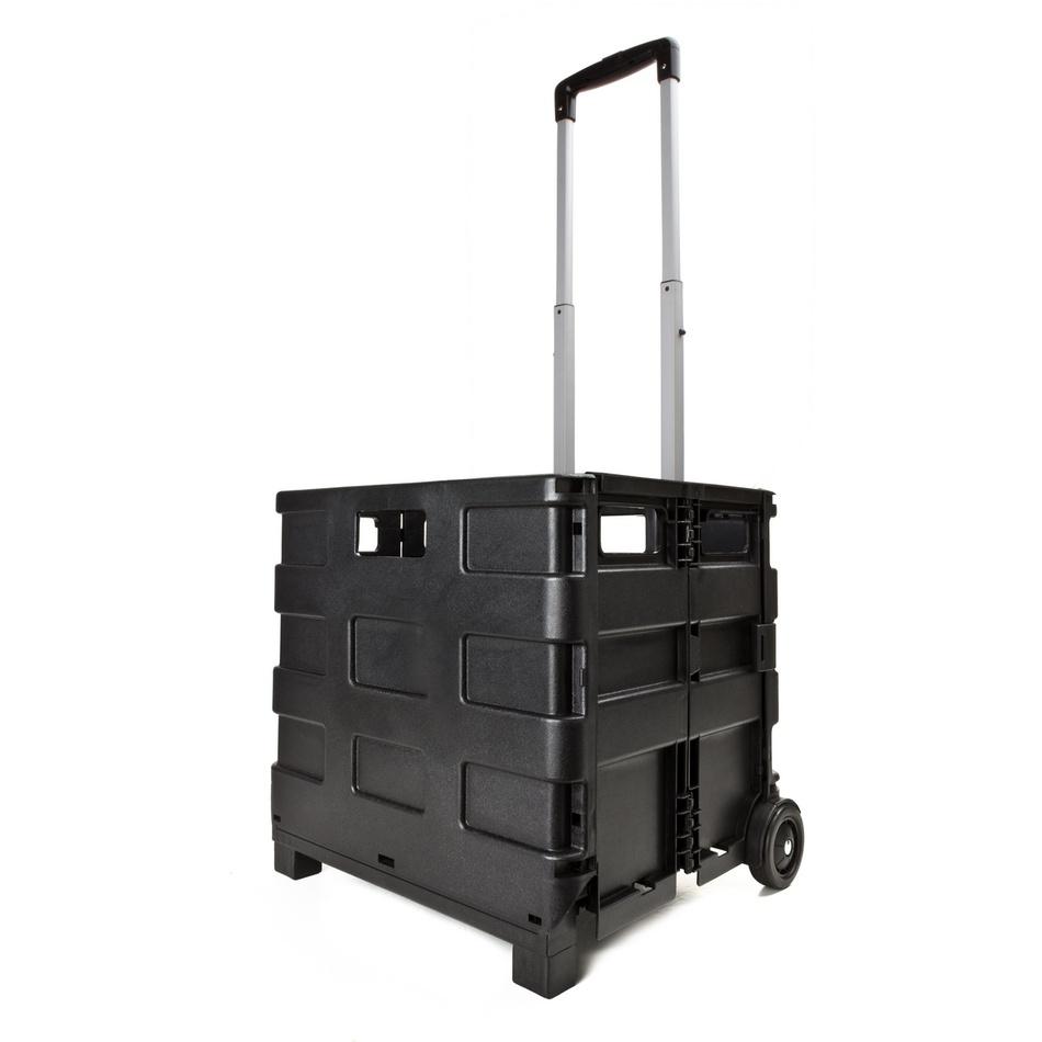 SP Trend Skladací prepravný vozík, čierna