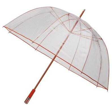 Průhledný deštník Princess oranžová