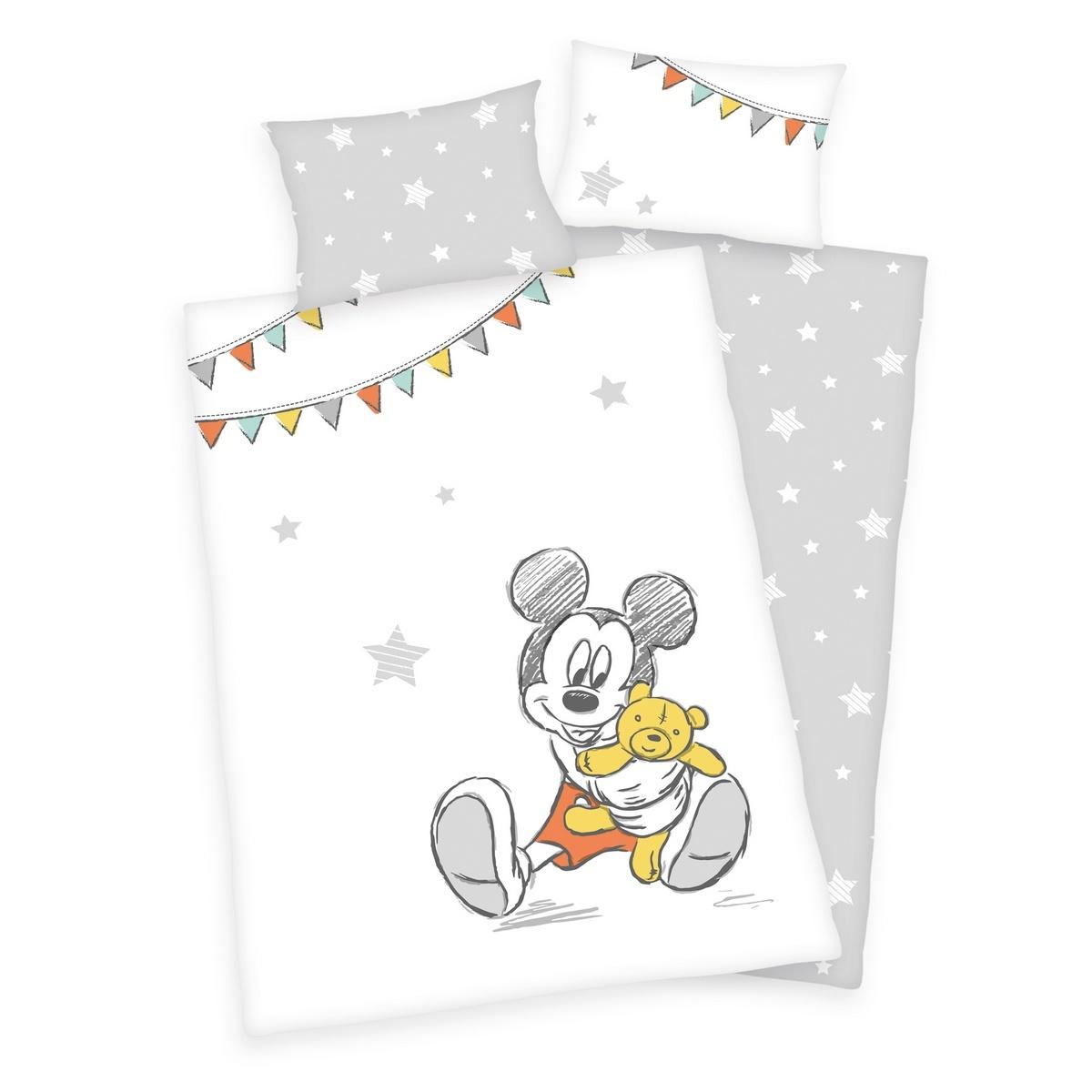 Herding Detské bavlnené obliečky do postieľky Mickey Mouse, 100 x 135 cm, 40 x 60 cm