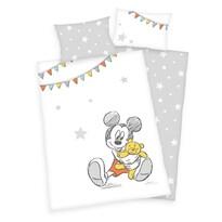 Herding Dětské bavlněné povlečení do postýlky Mickey Mouse, 100 x 135 cm, 40 x 60 cm