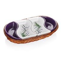 Banguet Lavender Servírovacie misy v košíku 30,5 cm