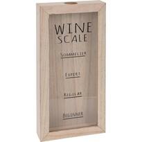 Koopman Wine Scale fa dekoráció, 30 x 15 cm