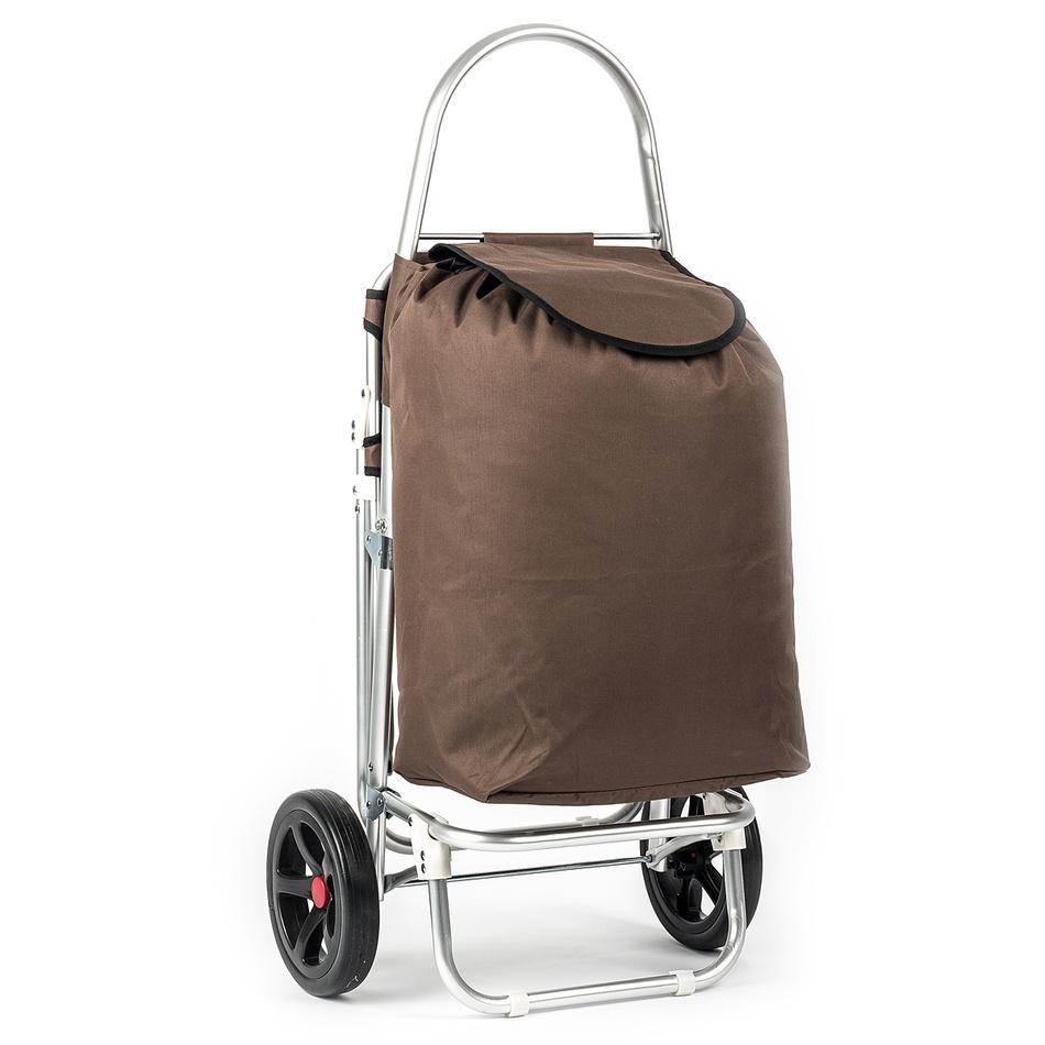 Nákupná taška na kolieskach Roma hnedá,
