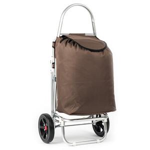 Nákupní taška na kolečkách Roma hnědá