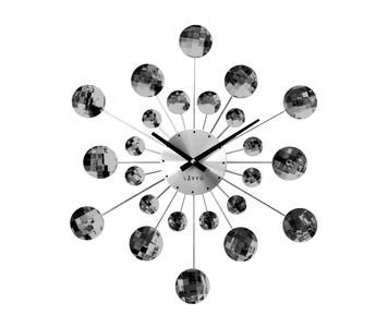 Nástěnné hodiny Lavvu Crystal Sunlight černá