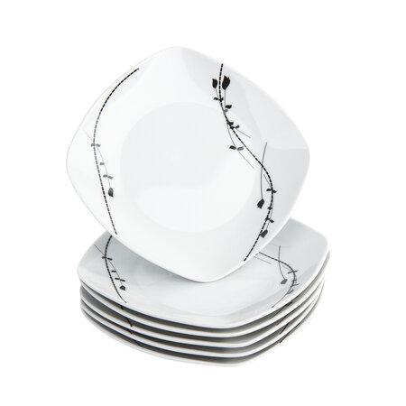 Domestic Londra 6 részes desszert tányér készlet , 19 cm