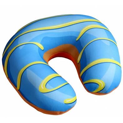 Cestovný vankúšik Donut modrá, 30 x 30 cm