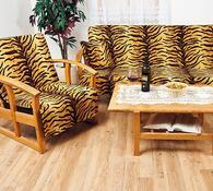 Přehozy na sedací soupravu Tygr, sada 5 ks
