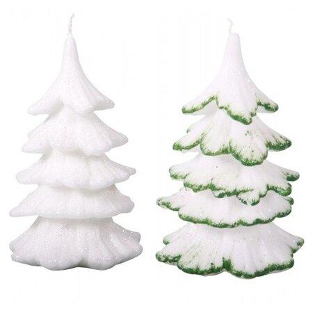 Karácsonyi gyertya Karácsonyfa, zöld