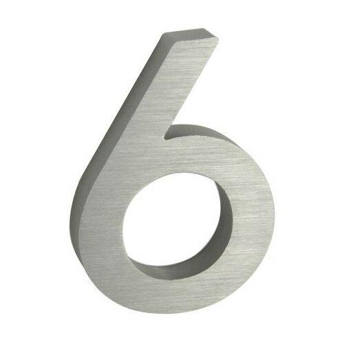 Hliníkové domovní číslo 3D broušený povrch RN.100LV.6.AL.3D