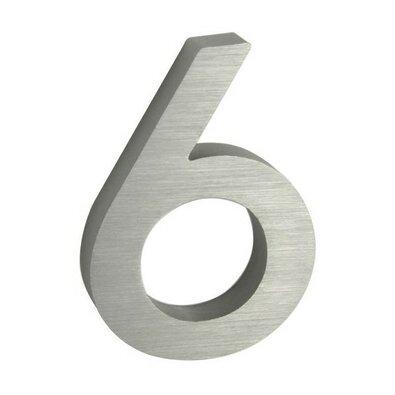 Hliníkové domové číslo 6, 3D brúsený povrch