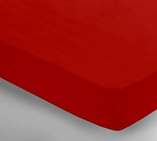 Saténové prestieradlo Uni červená, 150 x 240 cm