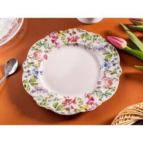 Altom Floral desszertes tányér készlet 21 cm, 6 db