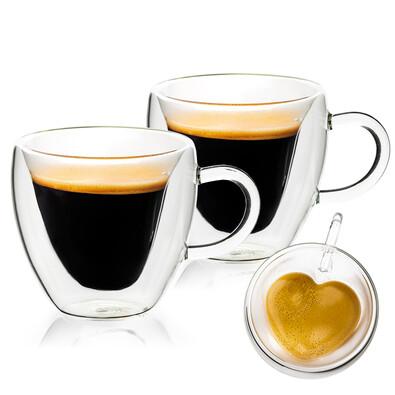 4home Termo sklenice Big Heart Hot&Cool 250 ml, 2 ks