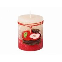 Lumânare decorativă Scorțișoară și măr, 9 cm