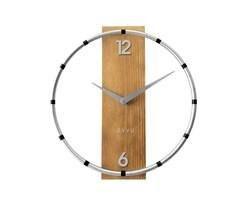 Nástenné hodiny Lavvu Compass Wood LCT1091  strieborná, pr. 31 cm