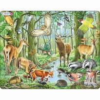 Puzzle Larsen Pădure europeană, 40 piese