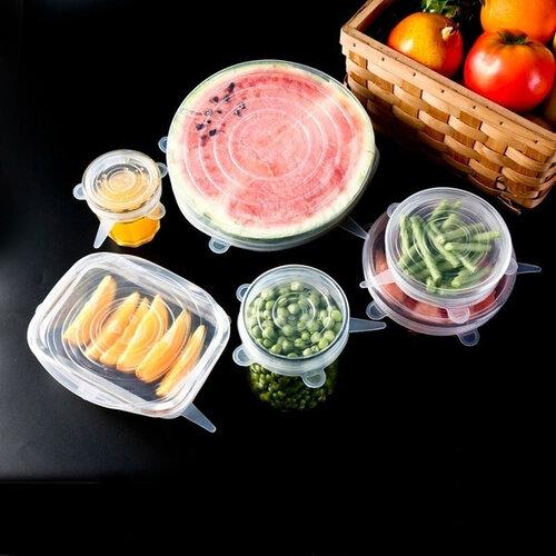 Florina 6dílná sada silikonových víček na potraviny