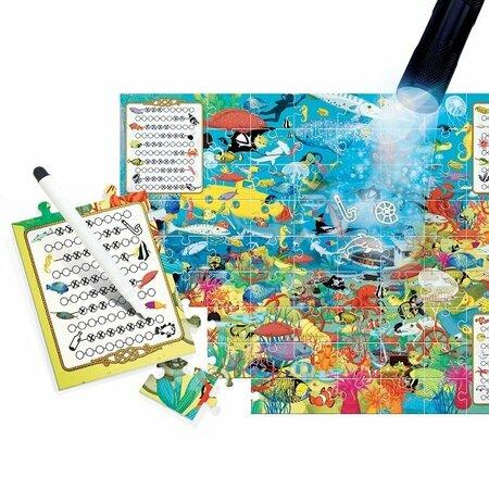 Headu Puzzle Explore s magickým svetlom: Preskúmaj more 70 dielikov