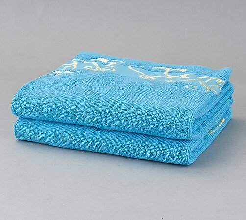 Sada ručníků Venera, modrá, modrá, 50 x 90 cm