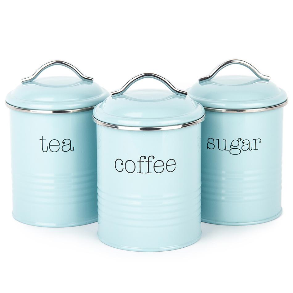 Koopman Sada dóz na kávu, čaj a cukr, modrá