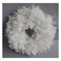 Wieniec bożonarodzeniowy Sario, biały, śr. 30 cm