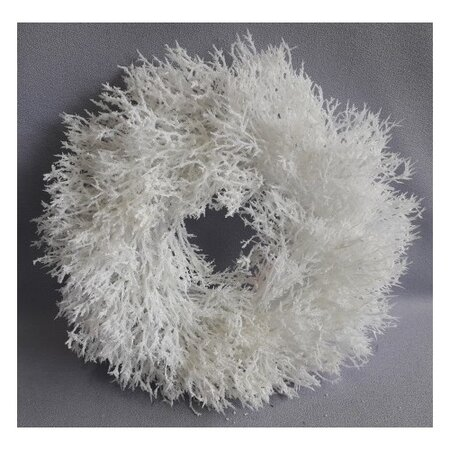 Vánoční věnec Saria bílá, pr. 30 cm