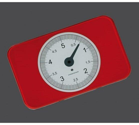 Kuchynská digitálna váha SCALE červená, Zassenhaus