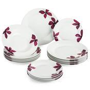 Banquet Purple sada talířů, 18 ks